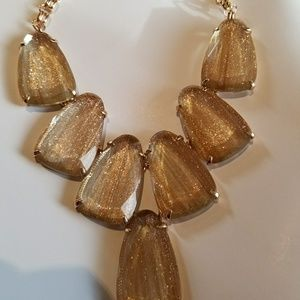 Brand New Kendra Scott Gold Dusted Glass Harlow